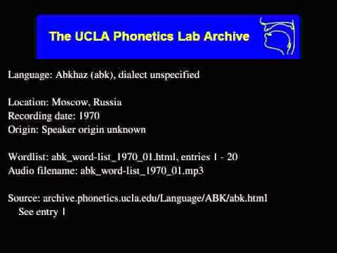 Abkhaz audio: abk_word-list_1970_01