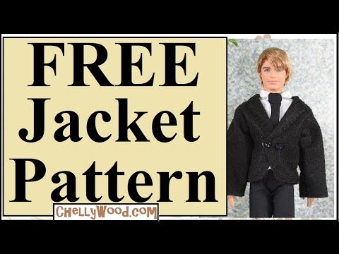 image regarding Free Printable Ken Doll Clothes Patterns called Free of charge Doll Garments Habits: Ken Meal Jacket Coat or Tux (Felt)