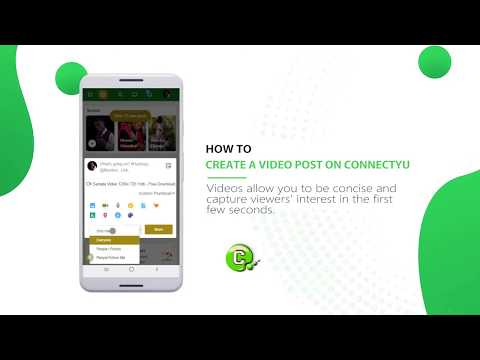 How to create and share a video post on ConnectYu