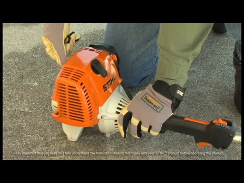 STIHL FS 100 How To Start  YouTube