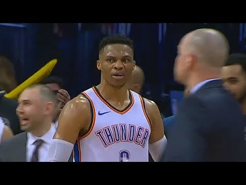 Russell Westbrook Brings The Thunder Crowd To Their Feet with Dunk!