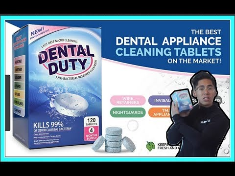 How to clean Retainers using Dental Duty Cleaning Tablets   Made In USA