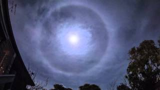 Time Lapse - Moon Halo 2012