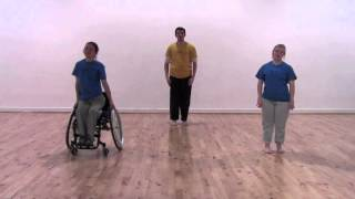 Stopgap Dance Company Replay (inclusive dance class for disabled people) Fold & Float