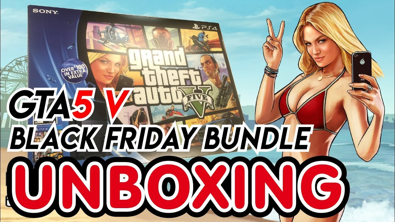 playstation 4 black friday bundle - grand theft auto v
