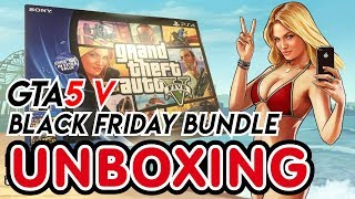 PS4 Black Friday Bundle (Grand Theft Auto (GTA 5) V and The Last of Us Remastered) Unboxing(PS4 (PlayStation 4) Black Friday Bundle Grand Theft Auto (GTA 5) V and The Last of Us Remastered Unboxing Bundle includes: Jet Black PlayStation 4 System ..., 2014-11-27T05:42:25.000Z)