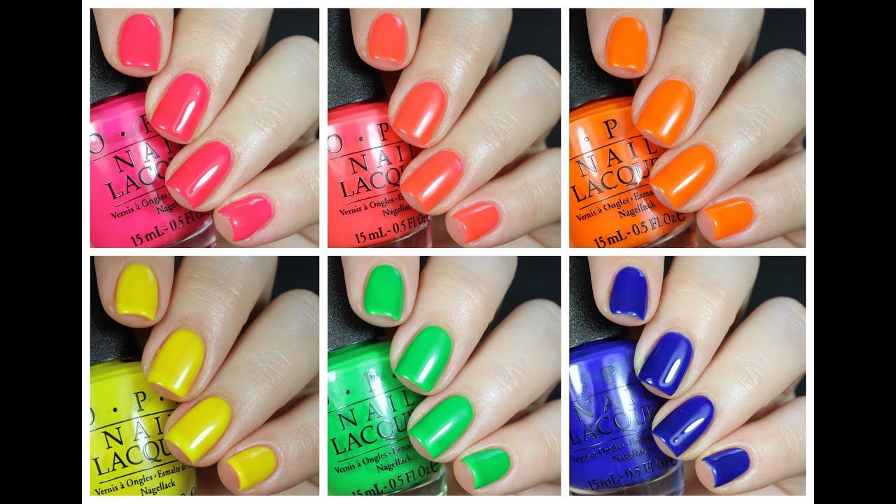 OPI True Neons Live Swatch + Review! - YouTube