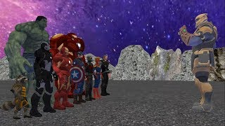 Thanos vs Avengers, Part-2 , ( Thanos vs Ironman , Hulk , Captain America , Thor, Captain Marvel)