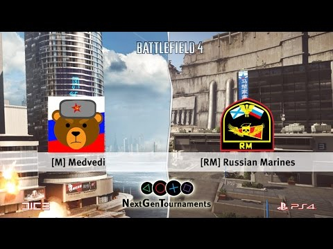 Russian Marines vs Medvedi / Rush 8v8 / NGT Top List / Battlefield 4