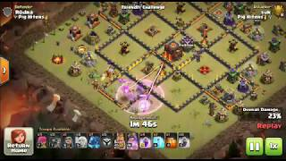 New attack strategy Queen walk with electro dragon, 3 * CLASH OF CLANS