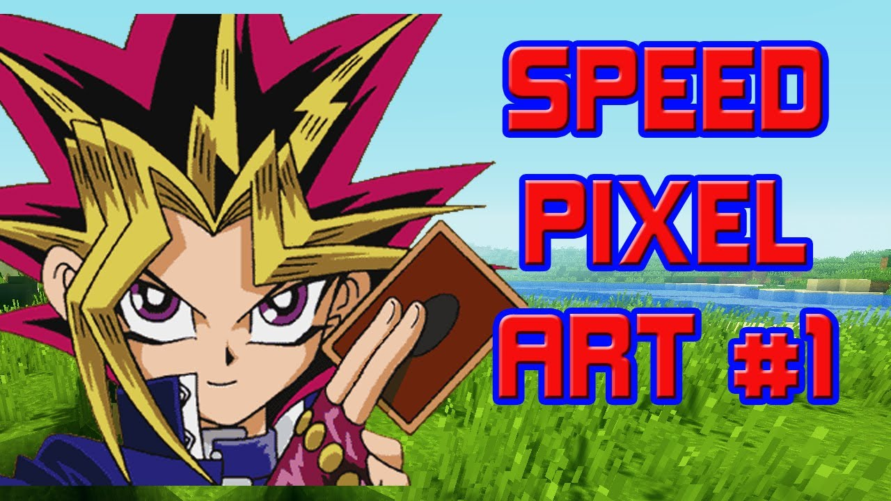 "Speed Pixel Art #1 - ""Yugi Moto"" | Tutorial Minecraft ..."
