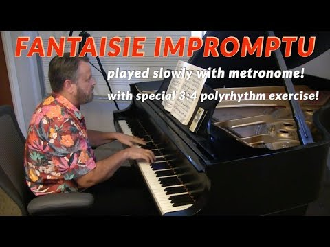 """Playing Chopin's """"Fantaisie Impromptu"""" Slowly With Metronome"""