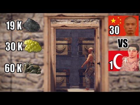 1 vs 30 Online Raid Attım. - Rust Türkçe Experimental l 93