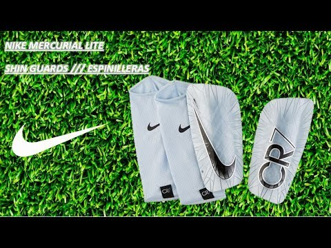 Persona responsable lucha ganado  NIKE MERCURIAL LITE ESPINILLERAS/ SHIN GUARDS - YouTube
