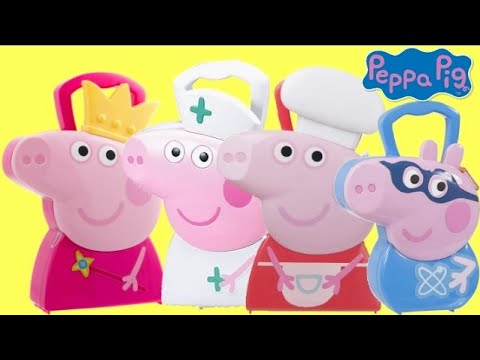 Nickeldeon PEPPA & GEORGE PIG Carry Cases, Nurse Medic, Chef, Princess, Superhero IRL Toys / TUYC