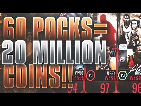 60 AMAZING NBA LIVE MOBILE PACKS WORTH 20,000,000 COINS!