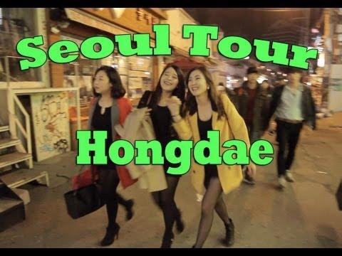 Seoul Tour: Hongdae at Night