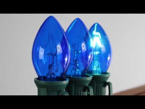 Blue C7 Twinkle Bulbs