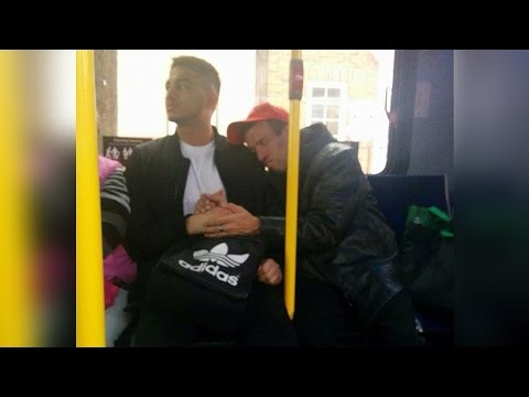 Good Samaritans: Man lets special needs person hold hand, Straphanger saves woman - Compilation