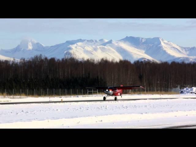 Maule M5 Taking off from Lake Hood Airstrip, Anchorage, Alaska