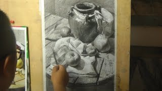 Still Life Drawing with Pencil