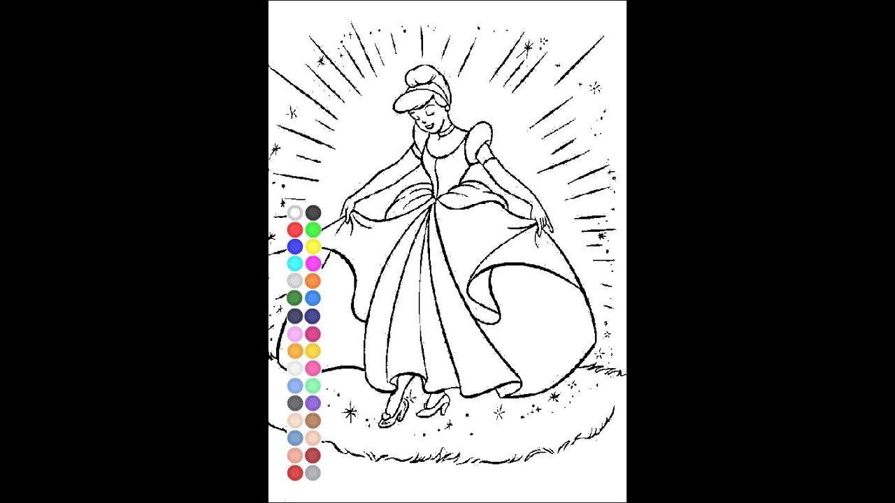 Cinderella Coloring Games Online