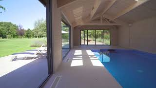 Private swimming pool and pool house