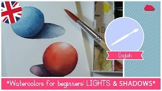 Watercolors for beginners light and shadow ENG