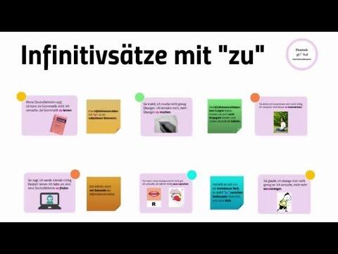 infinitivstze mit zu - Infinitivsatze Beispiele