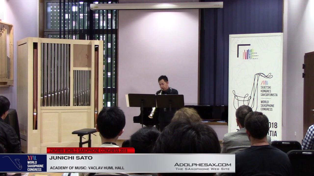 Tre Pezzi by Giacinto Scelsi   Junichi Sato  XVIII World Sax Congress 2018 #adolphesax