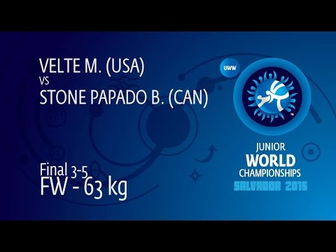 BRONZE FW - 63 kg: B. STONE PAPADO (CAN) df. M. VELTE (USA), 4-2