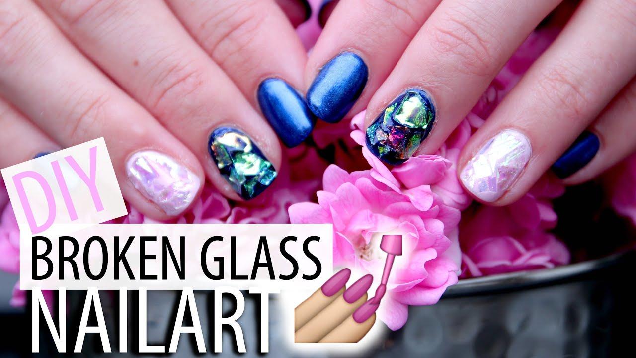 DIY Broken Glass Nailart - TUTORIAL - YouTube