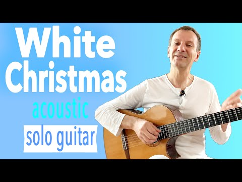 White Christmas KARAOKE - Lyrics (Subtitle) - Acoustic Fingerstyle Guitar Solo Cover - Charlie Kager