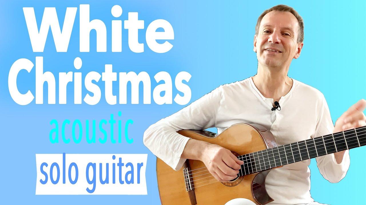 White Christmas KARAOKE - Lyrics (Subtitle) - Acoustic Fingerstyle ...