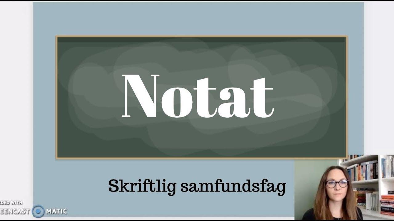 Genreguide: Notat i skr. samfundsfag