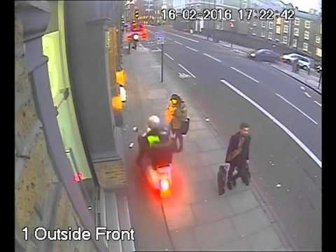 Thieves on moped snatch mobile phones. Watch out!