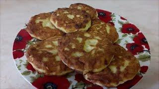 КАРТОФЕЛЬНЫЕ  ЛЕПЕШКИ с колбасой и сыром ЗАВТРАК Рецепт простого ЗАВТРАКА