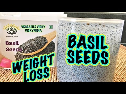 Basil Seeds for Weight Loss Hindi | Health Benefits of Sabja Seeds | Sweet Basil Seeds Benefits