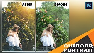 Photoshop Tutorial : How To Edit Outdoor Portrait - Photo Effects