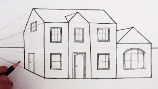 How to Draw a House in 1-Point Perspective: Narrated