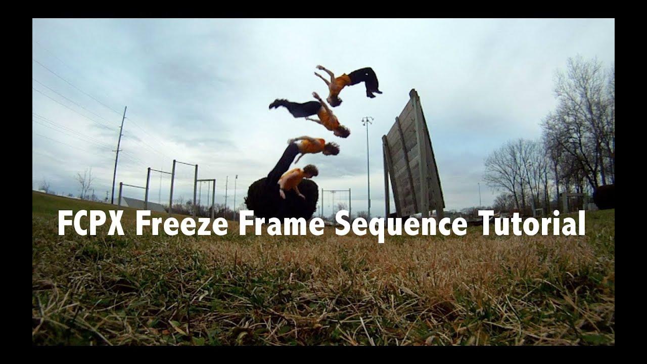 Final Cut Pro X Freeze Frame Sequence Tutorial