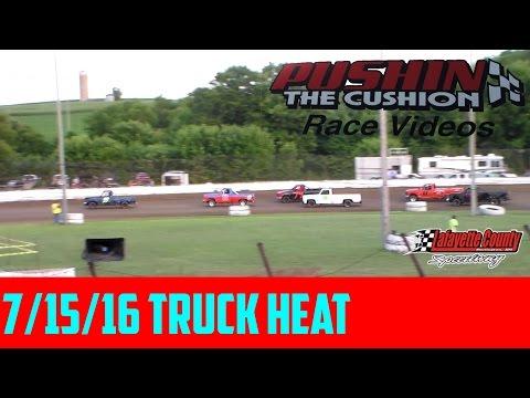Lafayette County Speedway 7/15/16 Sportsman Truck Heat