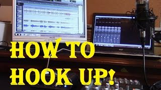 how to hook up the neewer nw 700 bm 700 any condenser microphone