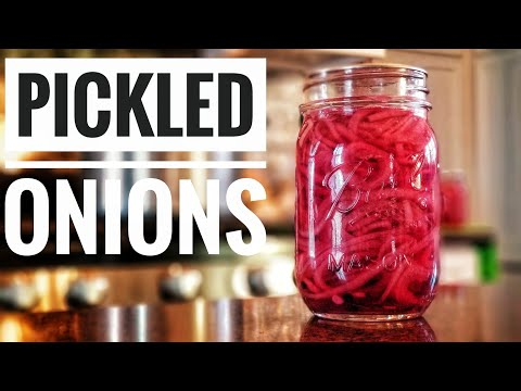 HOW TO Make Pickled Red Onions | Preserving your Harvest