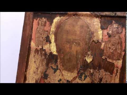 Купить редкие иконы: икона 17 век старинная Николай Чудотворец. DR0272.
