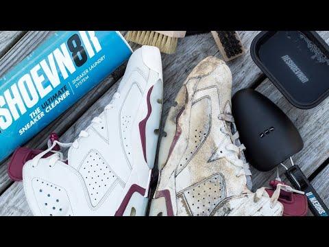 How to deep clean Jordan Maroon 6's with Reshoevn8r