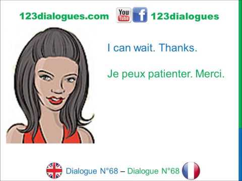 Dialogue 68 - English French Anglais Français - Answer a phone call - Répondre au téléphone