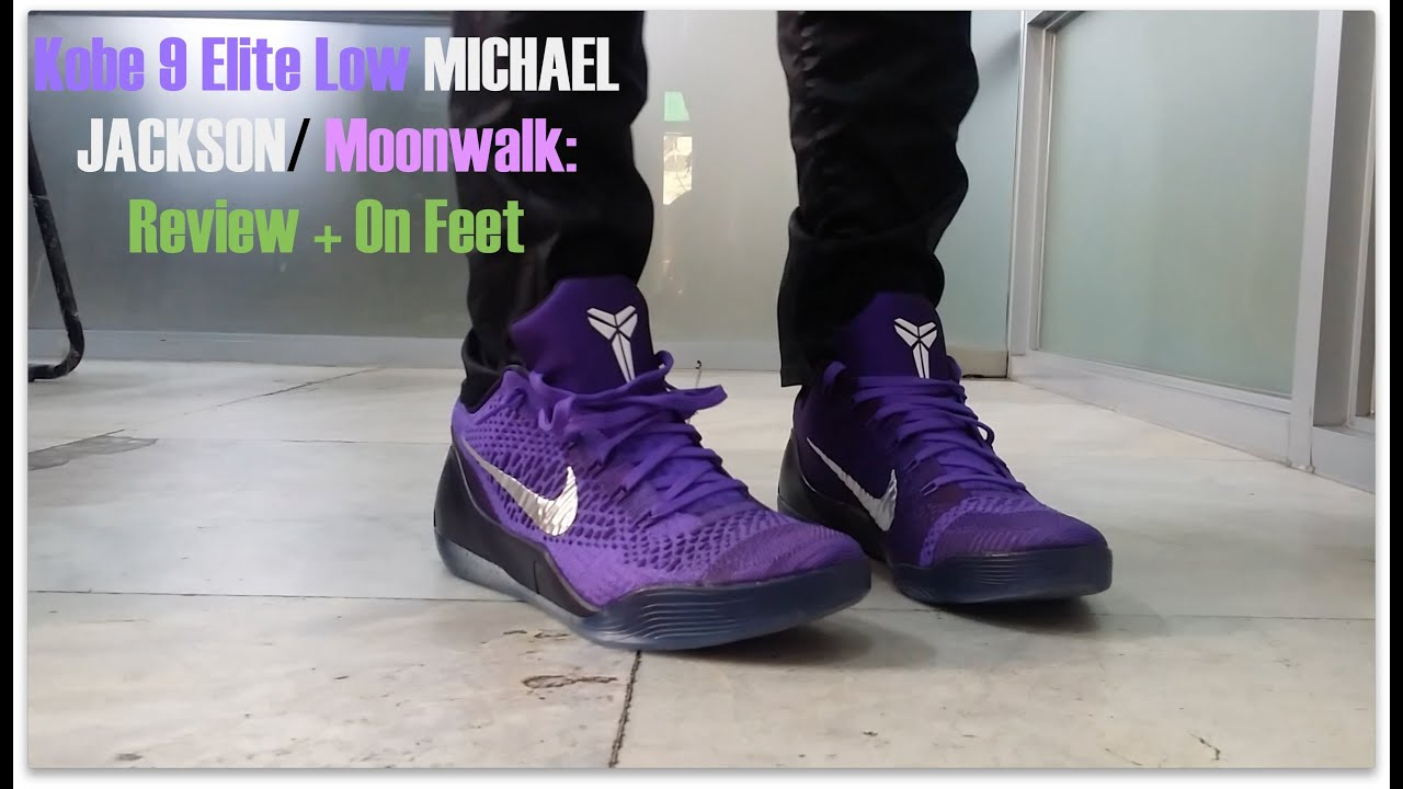 big sale 92730 cc40a Nike Kobe 9 Elite Low Michael Jackson Moonwalk Hyper Grape  Review + On Feet