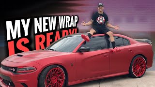 MY NEW WRAP FOR MY HELLCAT IS FINALLY DONE! **ITS A GAMECHANGER**
