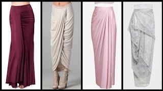 Most stylish draped mąxi skirts design and ideas